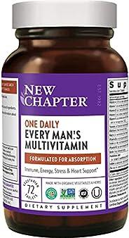 New Chapter 男士复合维生素,每个人每天一粒,用硒+ B维生素+维生素D3发酵-72粒(包装可能有所不同)