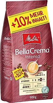 Melitta Ganze Kaffeebohnen, 100 % Arabica, starkes Aroma, intensiver Geschmack, Stärke 4, BellaCrema Intenso,