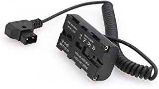 SZRMCC 全新 D-tap 2 针公头到 NP-F970 F550 仿真电池,带输出 7.4V 3A 适用于 Atomos Shogun Ninja Inferno SmallHD 显示器