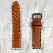 兼容 Apple Watch 表带 38 毫米 40 毫米 42 毫米 44 毫米 配饰女士男士真皮表带 适用于 iWatch SE 系列 6 5 4 3 2 1(棕色,38 毫米/40 毫米)