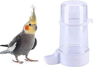Pet Bird 喂水器,15 盎司(约 430.9 克)鹦鹉饮水器,鸟笼悬挂自动饮水器,适用于 Parakeet Budgie Conure Cockatiel Lovebirds