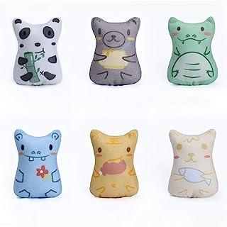 WOAILUO 可爱软咀嚼毛绒出牙宠物玩具猫互动猫薄荷玩具填充小猫玩具(多色)