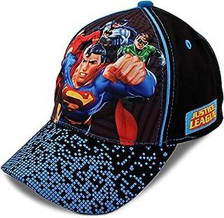 DC Comics 小男孩混色*英雄图案 3D 流行棉质棒球帽,适合 2-7 岁儿童