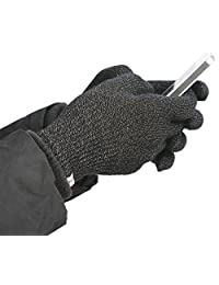 Agloves Polar Sport 中性触摸屏/智能手机手套,羊毛内衬内部舒适保暖,兼容:iPhone、Android、iPad & Nexus1707XL XL 黑色