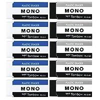 TOMBOW 橡皮擦 MONO PE01 2色 各5个 JCA-063AZ