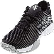 K-Swiss 女士 Hypercourt Supreme 网球鞋(黑色/白色/高腰,6.5)