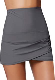 GRAPENT 女式休闲高腰荷叶边不对称下摆紧身长裙