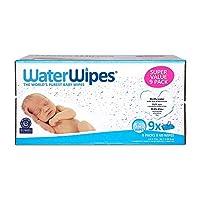 WaterWipes 無香味嬰兒濕巾,適合敏感和新生兒皮膚,9包(540片濕巾)