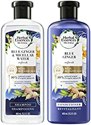 Herbal Essences,丰盈洗发水和护发素套装,含天然来源成分,适用于细发,色彩*,BioRenew 胶束水和蓝姜,14.5 液体盎司(约 399.2 毫升),套装