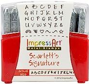 ImpressArt 33 件套大写邮票套装,Scarlett's Signature,2