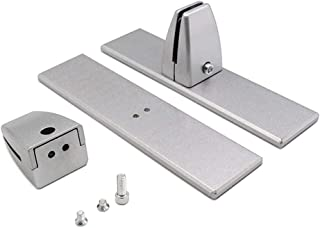 CALIDAKA 2 件/套屏幕隔板夹固定桌面隔板夹板夹桌面隔板支架桌面隔板夹板适用于办公室防锈铝合金