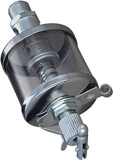 Aicosineg 0.5 英寸(约 1.4 厘米)螺纹铁镀铬瞄准器重力滴灌油器针阀类型油杯纳机油,用于商店调整发动机油银色调 1 件 50 毫升