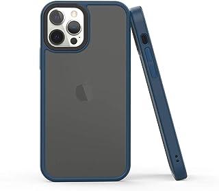 "WIZ ""Frosty Vogue""手机壳兼容 iPhone 12 Pro Max (深蓝色,6.7)"