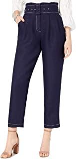 MOON RIVER 女士带腰带纸袋裤子