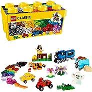LEGO 乐高 经典系列 创意中号积木盒 黄色创意盒 Plus 10696 35色积木套装 适合4岁以上所有男孩女孩使用