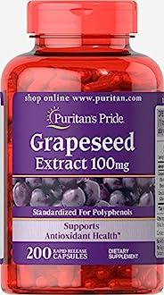 Puritans Pride 普丽普莱 葡萄籽提取物 100 毫克,200 粒
