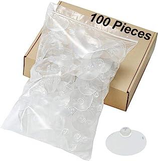 100 件 55 毫米大号吸盘透明厚专业强度塑料吸盘垫,无挂钩挂钩,用于装饰墙壁家居浴室厨房汽车