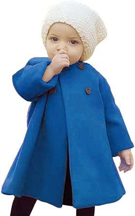 SWNONE 婴儿外套 2018 冬季儿童女婴斗篷纽扣夹克衣服婴儿外套衣服