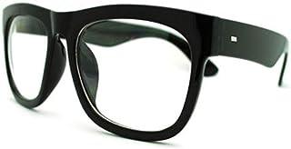 黑色超大方形眼镜厚角边缘透明镜框