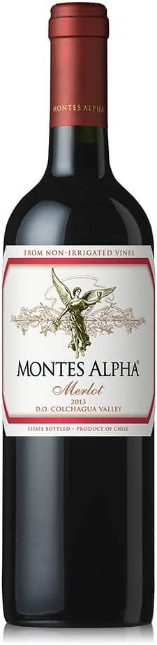 Montes 蒙特斯欧法梅洛干红葡萄酒750ml(智利进口红酒)