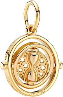 Pandora 潘多拉 哈利波特 旋转式定时器 挂坠 18 克拉镀金金属合金 3.8 x 16.8 x 19.1 毫米