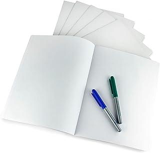 Hygloss 白色空白书籍,21.59cm x 27.94cm,10 张装 (77734) 100 Books