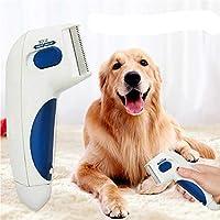 JUILE YUAN 宠物跳蚤梳子 - 跳蚤*如电视上看到的一样,非常适合狗和猫,不含电池和化学物质