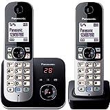 Panasonic松下 KX-TG6822GS DECT - 无绳电话,图形显示屏带电话答录机 Schwarz, Sil…