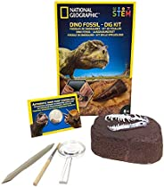 BANDAI National Geographic – 挖掘套装:恐龙化石 – 版本 2 – 教育和科学游戏 – STEM – JM80215