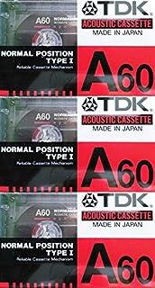 Tdk A60 磁带-3 件装