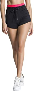 Gianni Kavanagh 女士黑色霓虹珊瑚粉色短裤