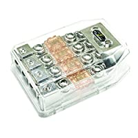 Stinger SHD821 HPM Series MANL/MIDI Fused Power Distribution Block with Satin Chrome Finish
