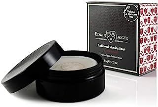 Edwin Jagger 99.9% 檀香剃须皂 含旅行携行盒,1件装(1 x 65g)