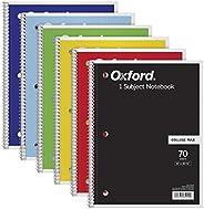 TOPS 1 主题笔记本,螺旋,20.32 cm x 26.67 cm,学院规则,颜色组合可能有所不同,70 张,6 包 (65007)