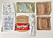 [ 7 包 ] AmeriQual 960 卡路里 MRE 包 - 墨西哥风鸡肉炖、面包、胡萝卜磅蛋糕、杯子、餐具、餐巾、调味料、自加热袋 ( 7 个 )