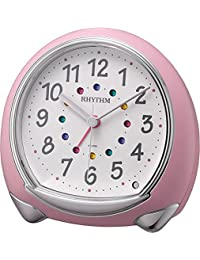Rhythm 麗聲時鐘 迷人的連續秒針鬧鐘 Abisco SR 粉色 8RE653SR13