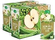 Happy Baby 禧贝 透明装婴儿食品2段,西葫芦,苹果,豌豆,藜麦和罗勒泥,4盎司(113克)袋,共计16袋