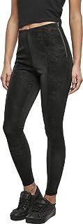 Urban Classics 女式水洗仿皮长裤