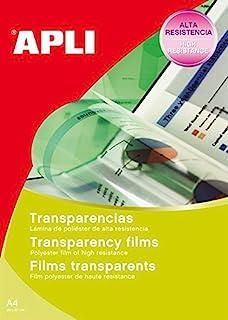 Apli 345747 - 50 件装 透明薄膜,A5