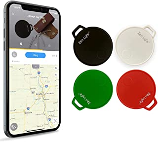 SwiftFinder 4 件套钥匙定位器跟踪设备智能钥匙跟踪器蓝牙跟踪器汽车钥匙行李钱包搜索器带应用程序适用于 iPhone 三星 Galaxy
