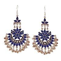 传统印度宝莱坞珠宝氧化银阿富汗部落 Chandbali 女士耳环