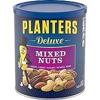 Planters 豪華混合堅果,可重新密封,包含用海鹽調味的腰果,杏仁,榛子,開心果,山核桃,15.25盎司約431克,罐裝