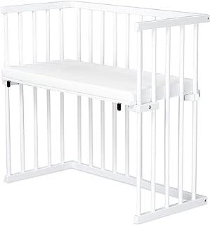 dreamgood 床边床,山毛榉,白色喷漆 | Prime 床垫