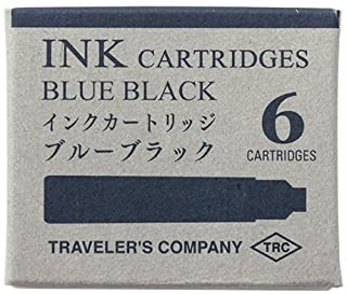 Midori Brass 黄铜系列 钢笔 滤芯(蓝黑色)