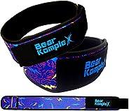 Bear KompleX 10.16 厘米直重举腰带,用于举重、方形、交叉、体重训练等。 低调魔术贴,背部*紧致,穿着舒适