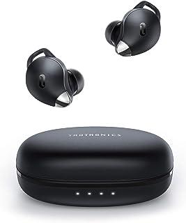 TaoTronics 真无线耳塞 SoundLiberty 79 智能 AI 降噪技术适用于清晰通话,单/双模式,30小时播放时间,USB Type C,IPX8,带充电盒,银色黑色