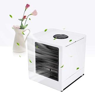 TOPINCN 超低静音空气冷却器,便携式空调风扇带 LED 灯 USB 迷你桌面冷却风扇净化器,适用于家庭、宿舍、房间和办公室