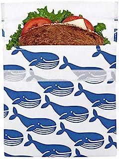 LunchSkins 食品袋 蓝色鲸鱼 Sandwich LS1-WHALE-BLU