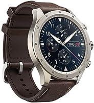 Zepp Z *健身智能手表,采用钛合金工艺,15 天电池寿命,在线和离线语音助手,SpO2 水平测量,心率,*和压力监测(棕色)