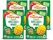 Happy Squeeze Organic Superfoods Twist Apple Kale Mango, 3.17 Ounce Pouch (Pack of 16) (Pack May Vary) Baby To